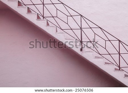 stock-photo-pink-outdoor-staircase-with-