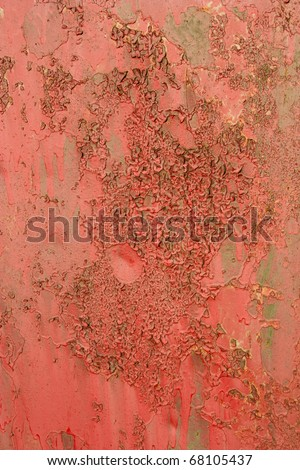 Pink painted iron texture - stock photo