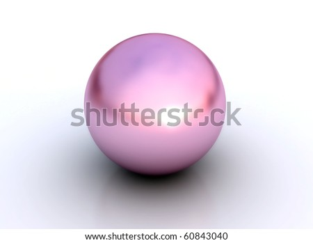 Pink pearl isolated on white