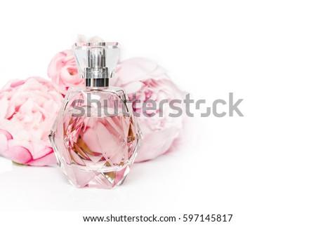 Pink perfume bottle flowers on light stock photo download now pink perfume bottle flowers on light stock photo download now royalty free 597145817 shutterstock mightylinksfo