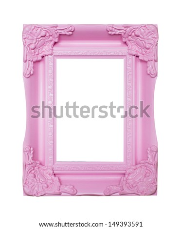 pink picture frames - stock photo
