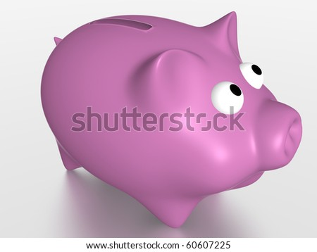 Pink pig for savings. Economy concept. 3d render