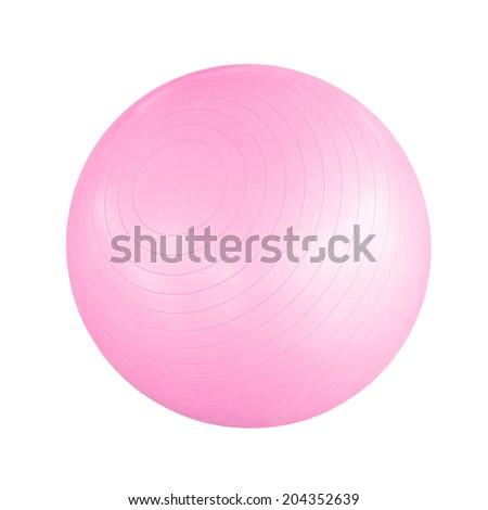 Pink pilates ball - stock photo