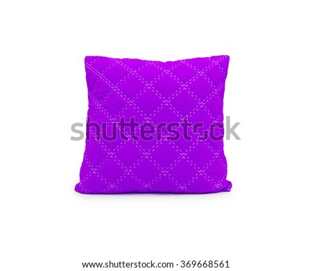 pink pillow isolated on white - stock photo