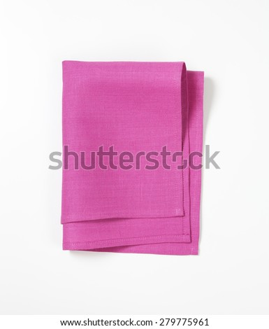 pink place mat on white background
