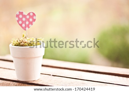 pink polka dot heart - stock photo
