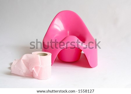 Pink potty - stock photo