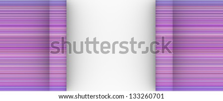 pink purple cylinder scroll shape backdrop on white - stock photo