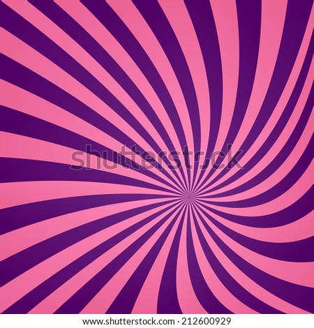 Pink purple striped spiral background - jpeg version - stock photo