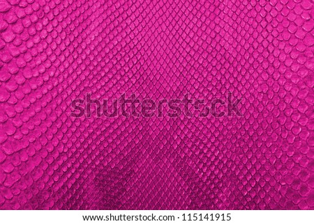 Pink python snake skin texture background. - stock photo