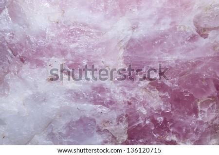 Pink Quartz Background - stock photo