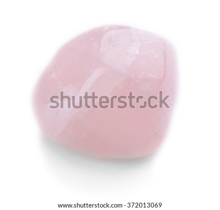 Pink quartz isolated on white background
