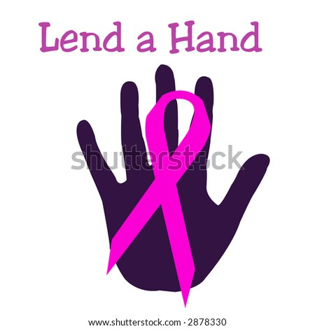 pink ribbon abstract breast cancer symbol poster