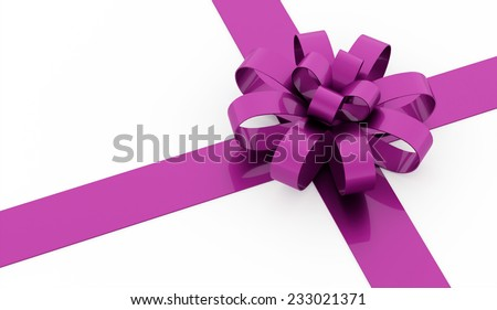 Pink ribbon concept rendered on white background