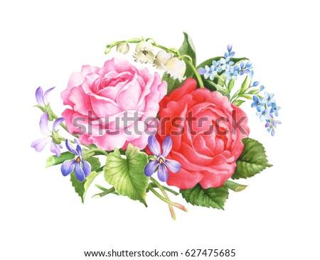 Resolution flower stock billeder royaltyfri billeder og - High resolution watercolor flowers ...