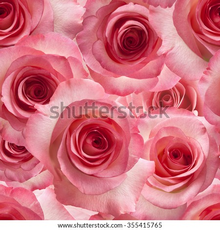 pink roses seamless repeatable background - stock photo