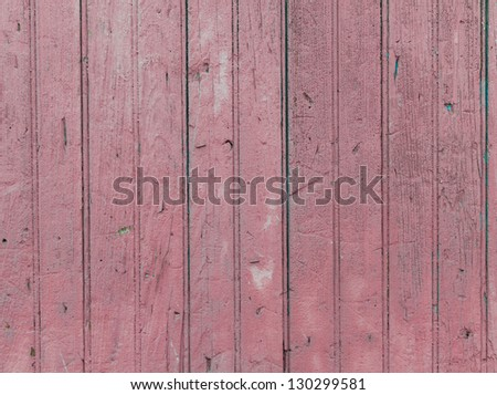 Pink rustic wooden antique wall background - stock photo