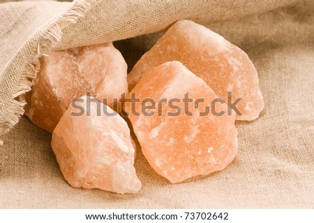 Pink salt of Hymalayas. mineral