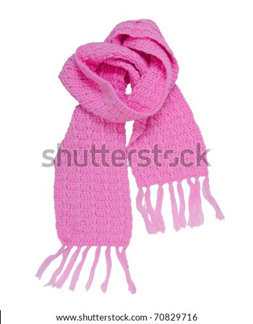 pink scarf - stock photo