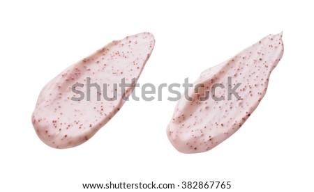 Pink Scrub Sample Isolated on White Background - stock photo