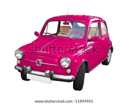 pink Seat 600E isolated on white background - stock photo