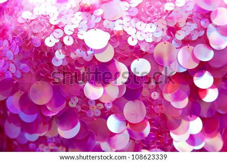 Pink sequins pattern texture fashion background - stock photo