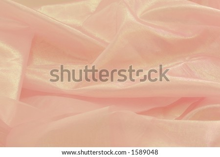 Pink shiny fabric - stock photo