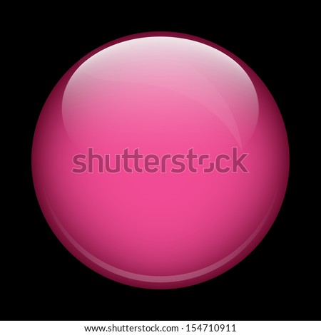 Pink shiny glass ball on a black background