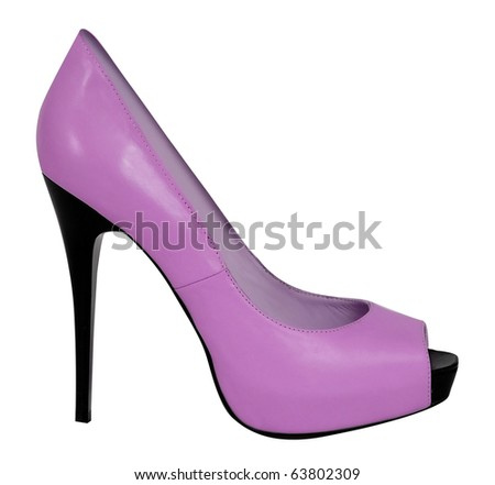 pink shoe - stock photo