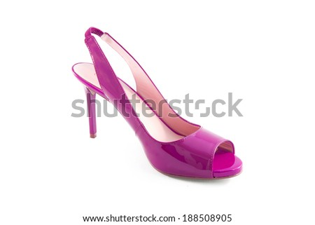 Pink shoes isolated on a white background