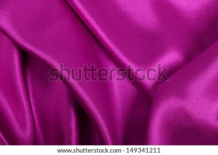 Pink silk / velvet cloth background - stock photo