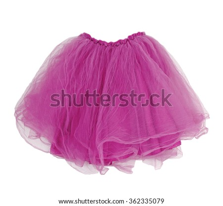 pink skirt isolated on white - stock photo