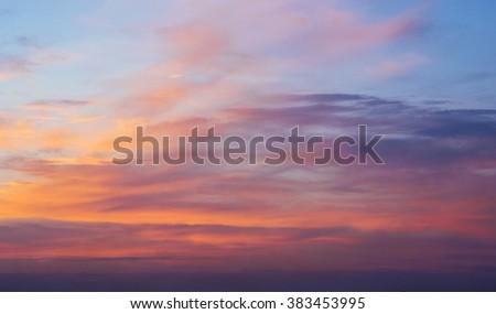 pink sky - stock photo