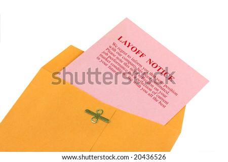 Pink Slip Notice - stock photo