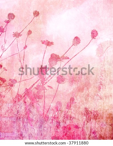 pink soft summer meadow textured background - stock photo