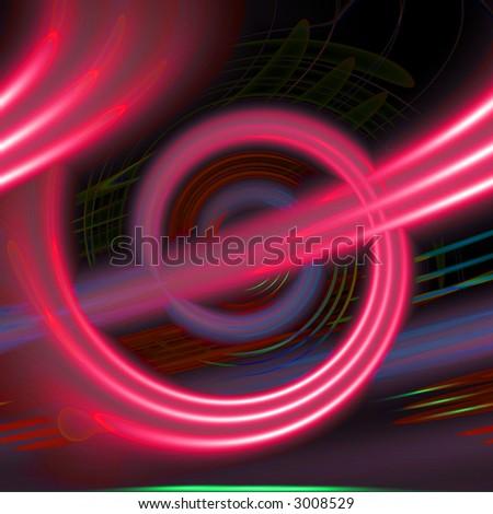 Pink spiral - stock photo