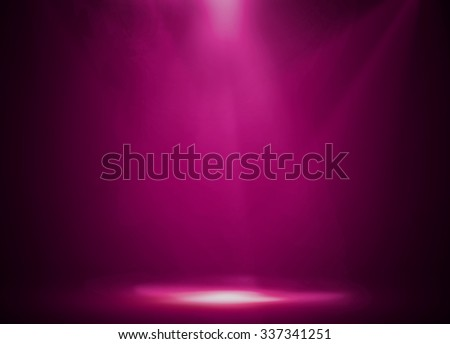Pink stage background - stock photo