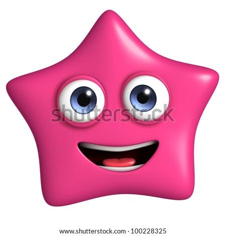 pink star - stock photo