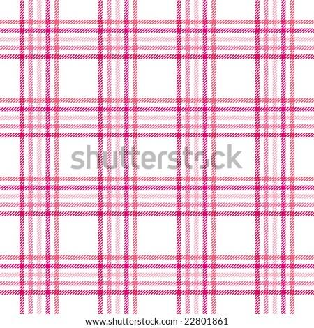 Pink Stripes Plaid - stock photo