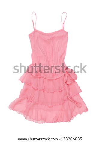 pink sundress - stock photo
