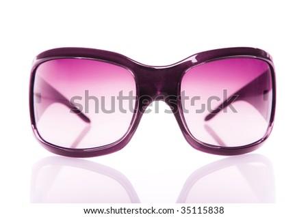 Pink sunglasses - stock photo
