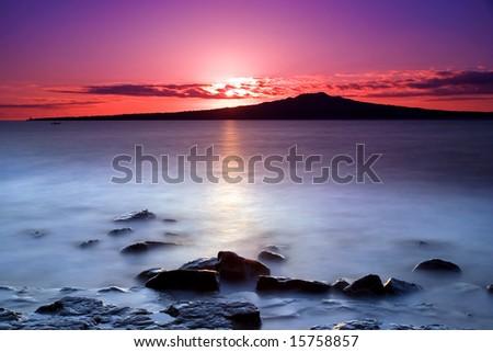 Pink Sunrise - stock photo