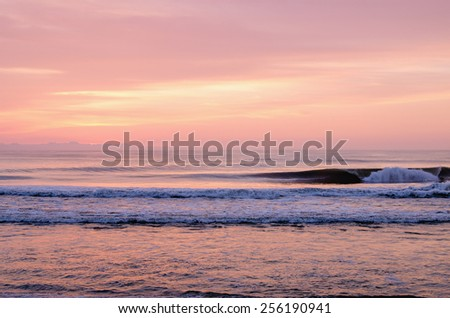 Pink Sunrise, Avon, NC - stock photo