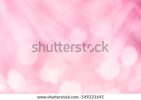 pink sweet blur bokeh for background