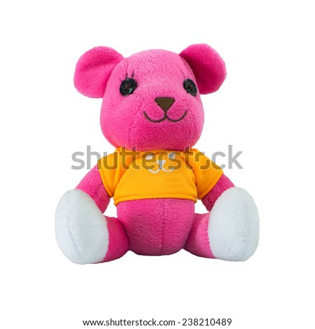 Pink teddy bear - stock photo
