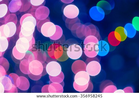 PInk valentines bokeh background - stock photo