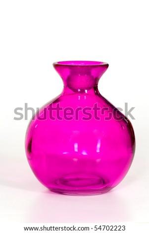 Pink Vase on the white Background - stock photo