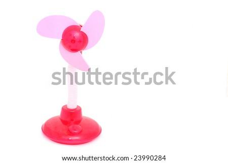 pink ventilator on the white - stock photo