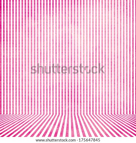 Pink vintage stripe room background - stock photo