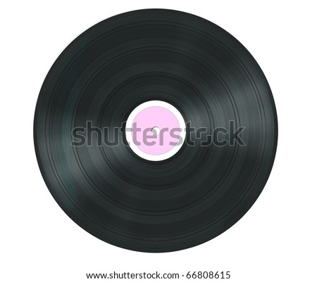 Pink vinyl isolated